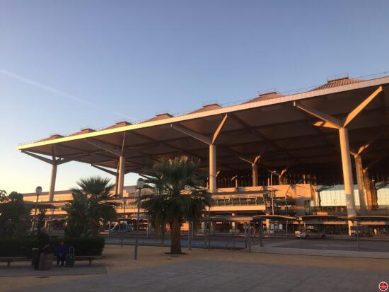 Malaga airport gebouw