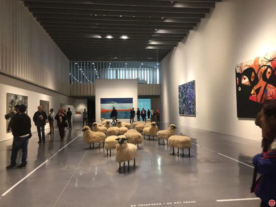 Centre Pompidou Malaga binnen