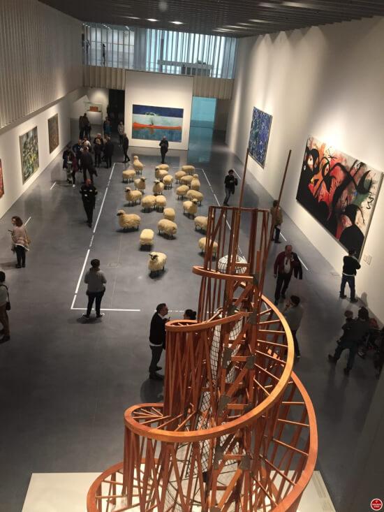 Centre Pompidou Malaga view inside
