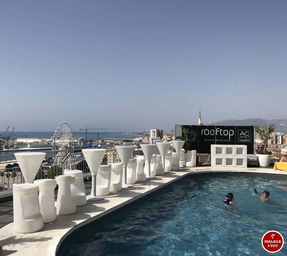Rooftop bar dakterras Marriott Stad Malaga