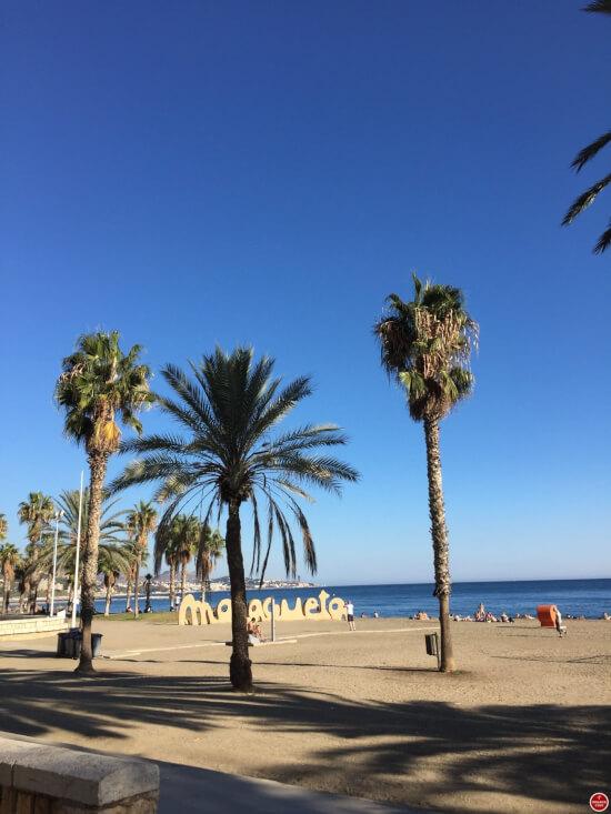 Malaga strand Malagueta