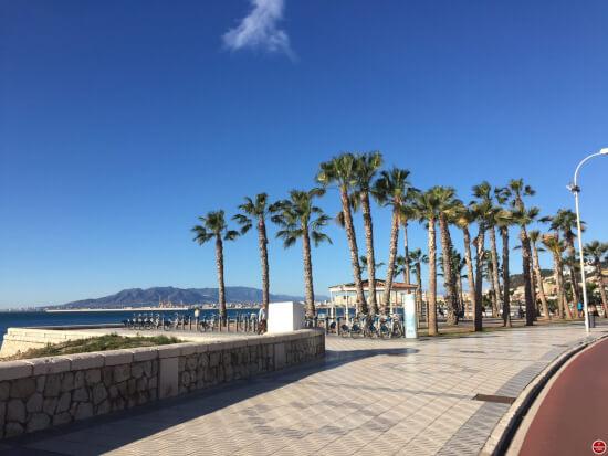 Malaga promenade boulevard strand
