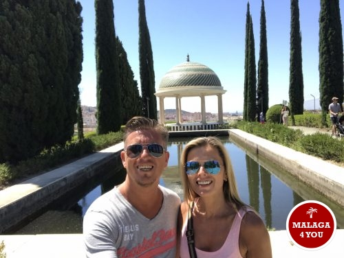 jardín botánico selfie