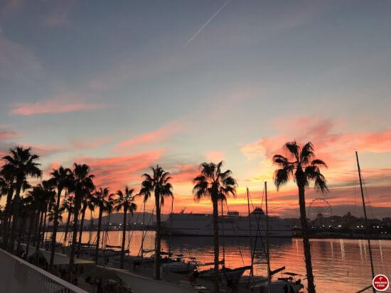 1 dag in Malaga - sunset muelle uno