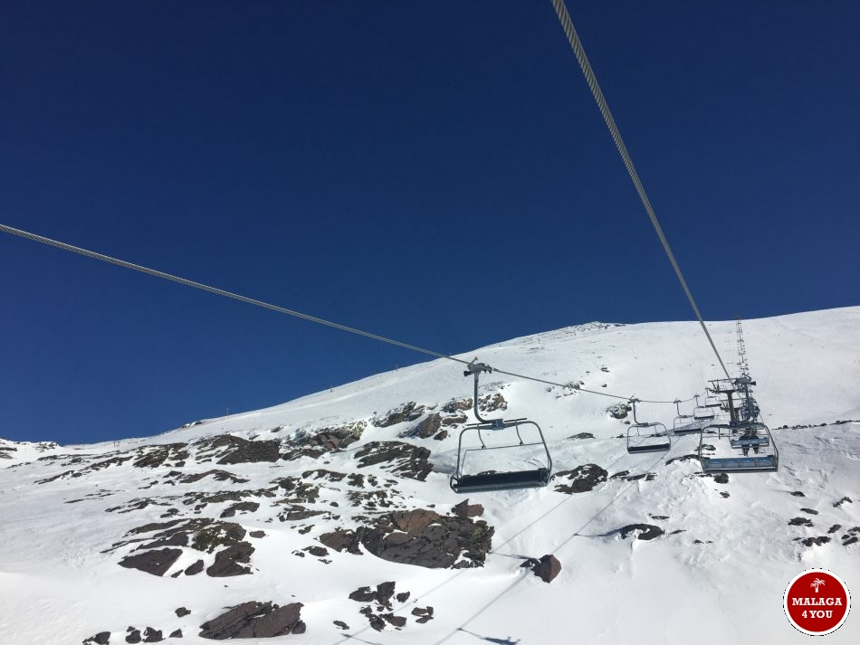 sierra nevada skilift sneeuw