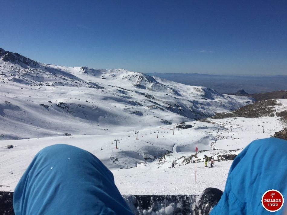 sierra nevada snowboard view perfect