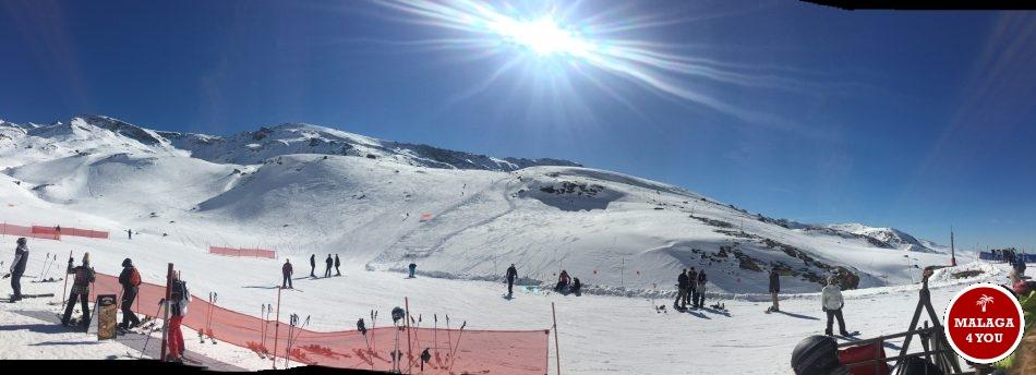 sierra nevada panorama sun