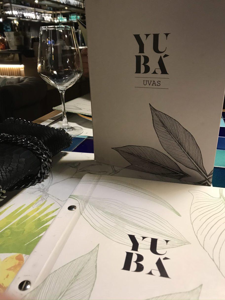 restaurant Yubá menu