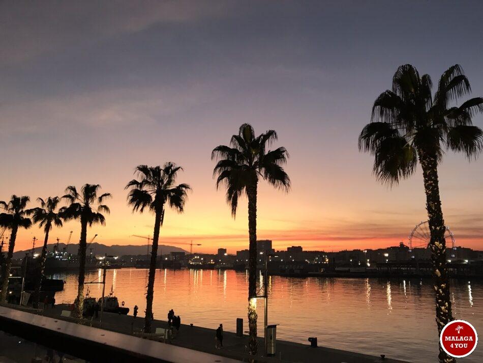 haven sunset zonsondergang Malaga Muelle Uno