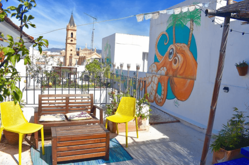 goedkope hostels Malaga Casa Al Sur Terraza