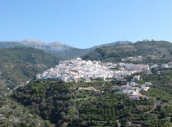 Malaga witte dorpen in de omgeving