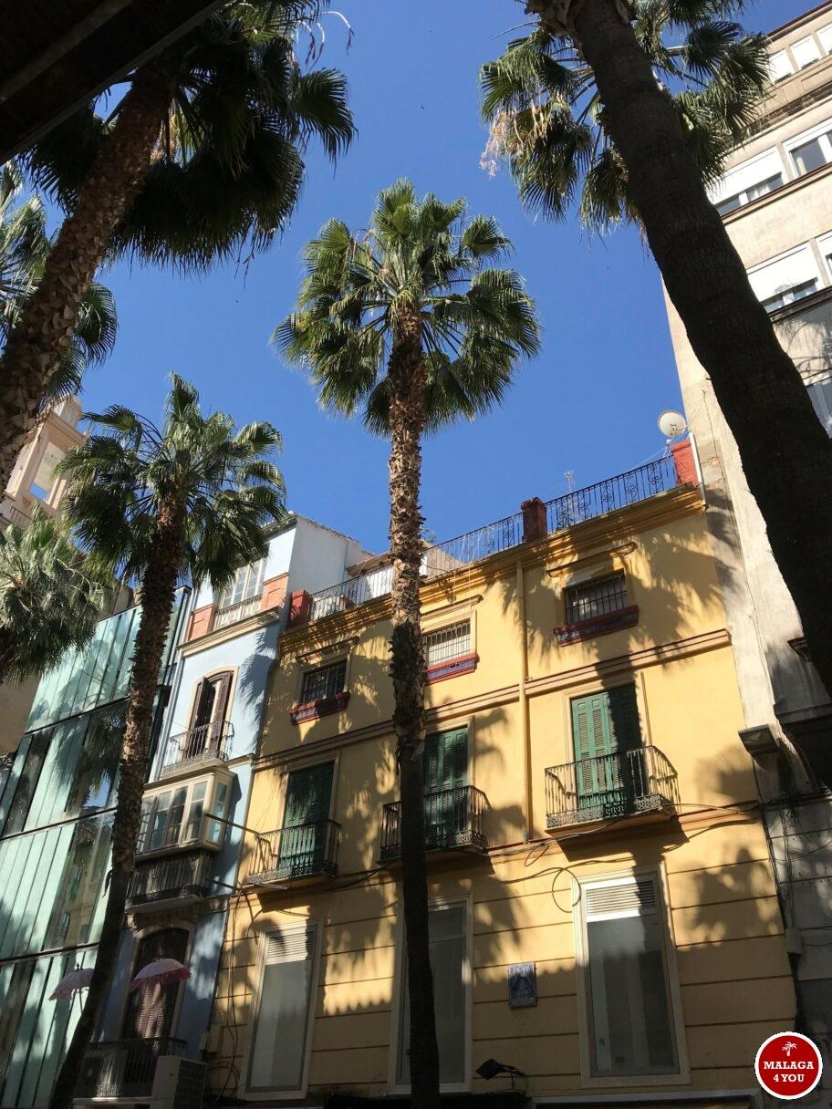 gevels palmbomen Malaga